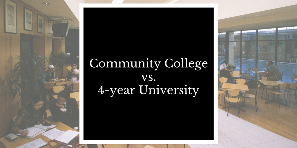 community college versus university Free essay: after graduating from high school, the next step in the academic journey is to attend a college or a university before i got into college, i.